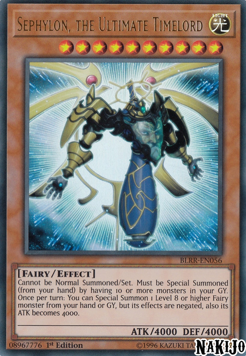 Sephylon, the Ultimate Timelord - BLRR-EN056 - Ultra Rare - 1st Edition