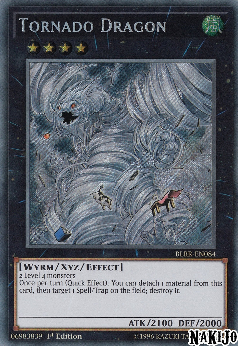 Tornado Dragon - BLRR-EN084- Secret Rare - 1st Edition