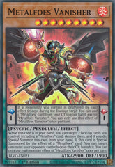 Metalfoes Vanisher - BLVO-EN021 - Super Rare - 1st Edition