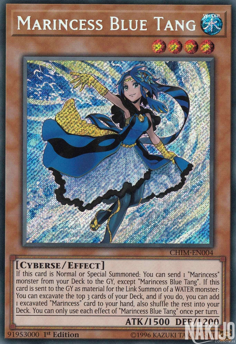 Marincess Blue Tang - CHIM-EN004 - Secret Rare - 1st Edition