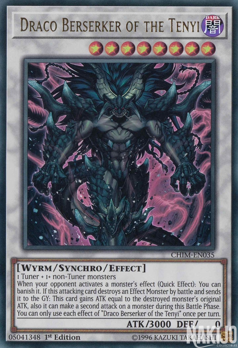 Draco Berserker of the Tenyi - CHIM-EN035 - Ultra Rare - 1st Edition