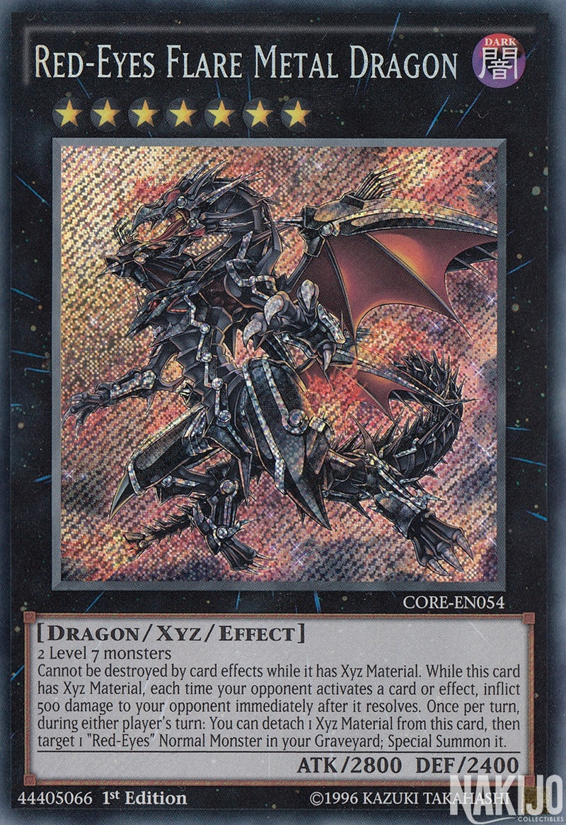 Red-Eyes Flare Metal Dragon - CORE-EN054 - Secret Rare - 1st Edition
