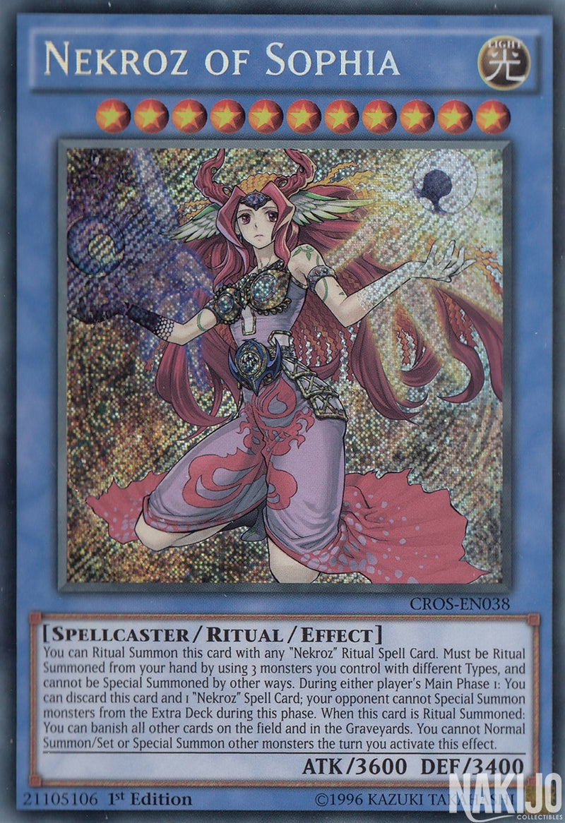 Nekroz of Sophia - CROS-EN038 - Secret Rare - 1st Edition