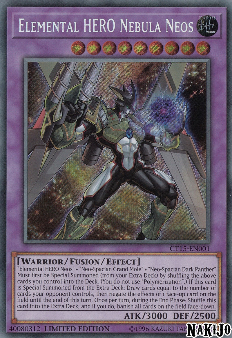 Elemental HERO Nebula Neos - CT15-EN001 - Secret Rare - Limited Edition