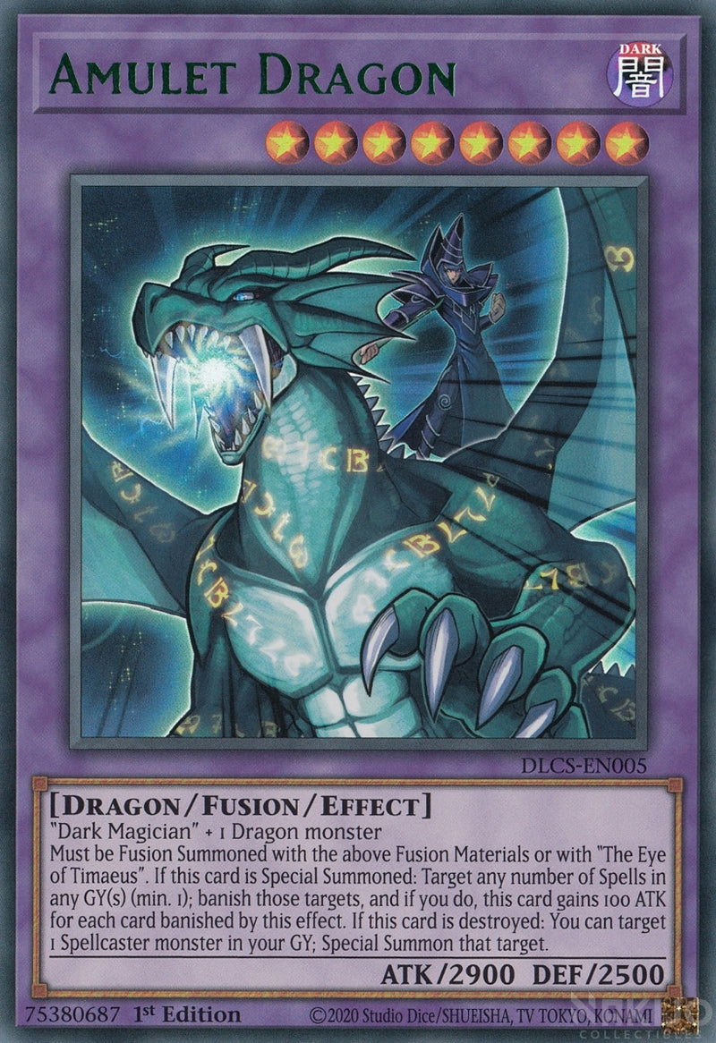 Amulet Dragon - DLCS-EN005 - Green Ultra Rare - 1st Edition