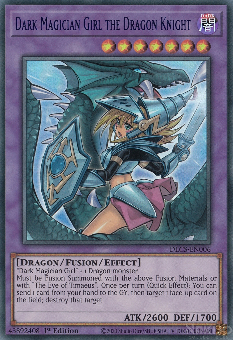 Dark Magician Girl the Dragon Knight - DLCS-EN006 - Blue Ultra Rare - 1st Edition - Alternate Art
