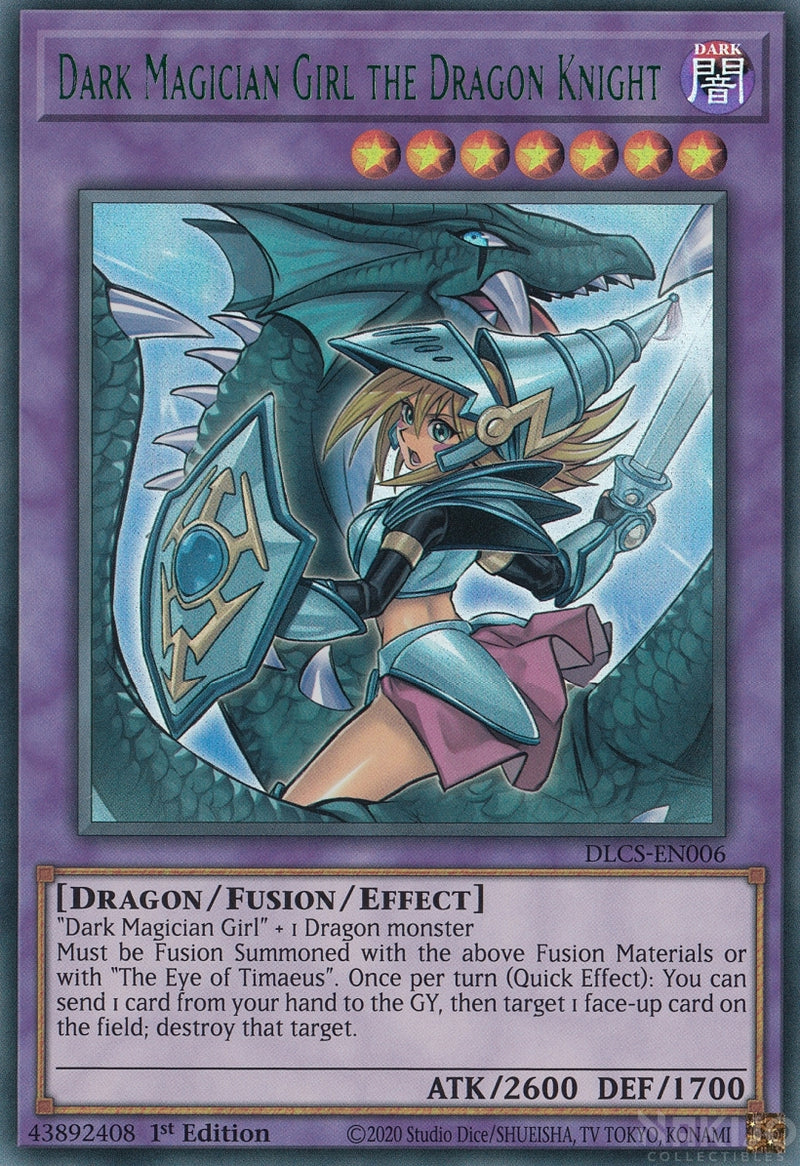 Dark Magician Girl the Dragon Knight - DLCS-EN006 - Green Ultra Rare - 1st Edition - Alternate Art