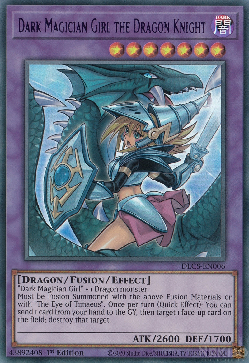 Dark Magician Girl the Dragon Knight - DLCS-EN006 - Purple Ultra Rare - 1st Edition - Alternate Art