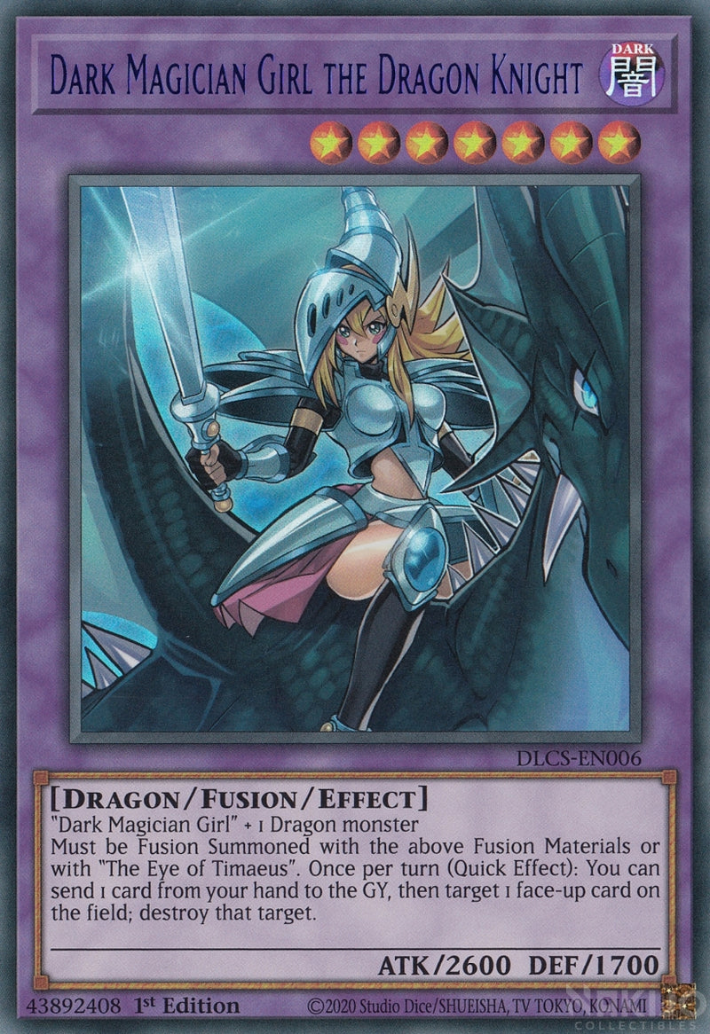 Dark Magician Girl the Dragon Knight - DLCS-EN006 - Blue Ultra Rare - 1st Edition