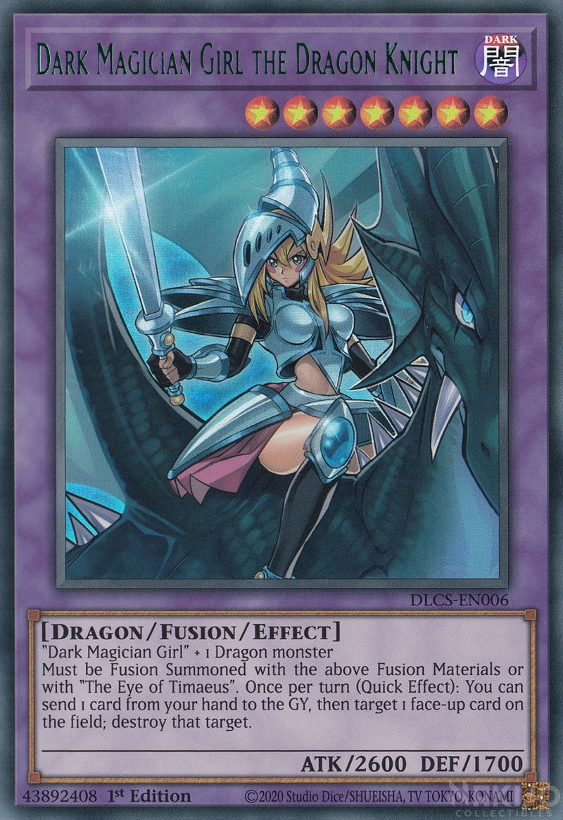 Dark Magician Girl the Dragon Knight - DLCS-EN006 - Green Ultra Rare - 1st Edition