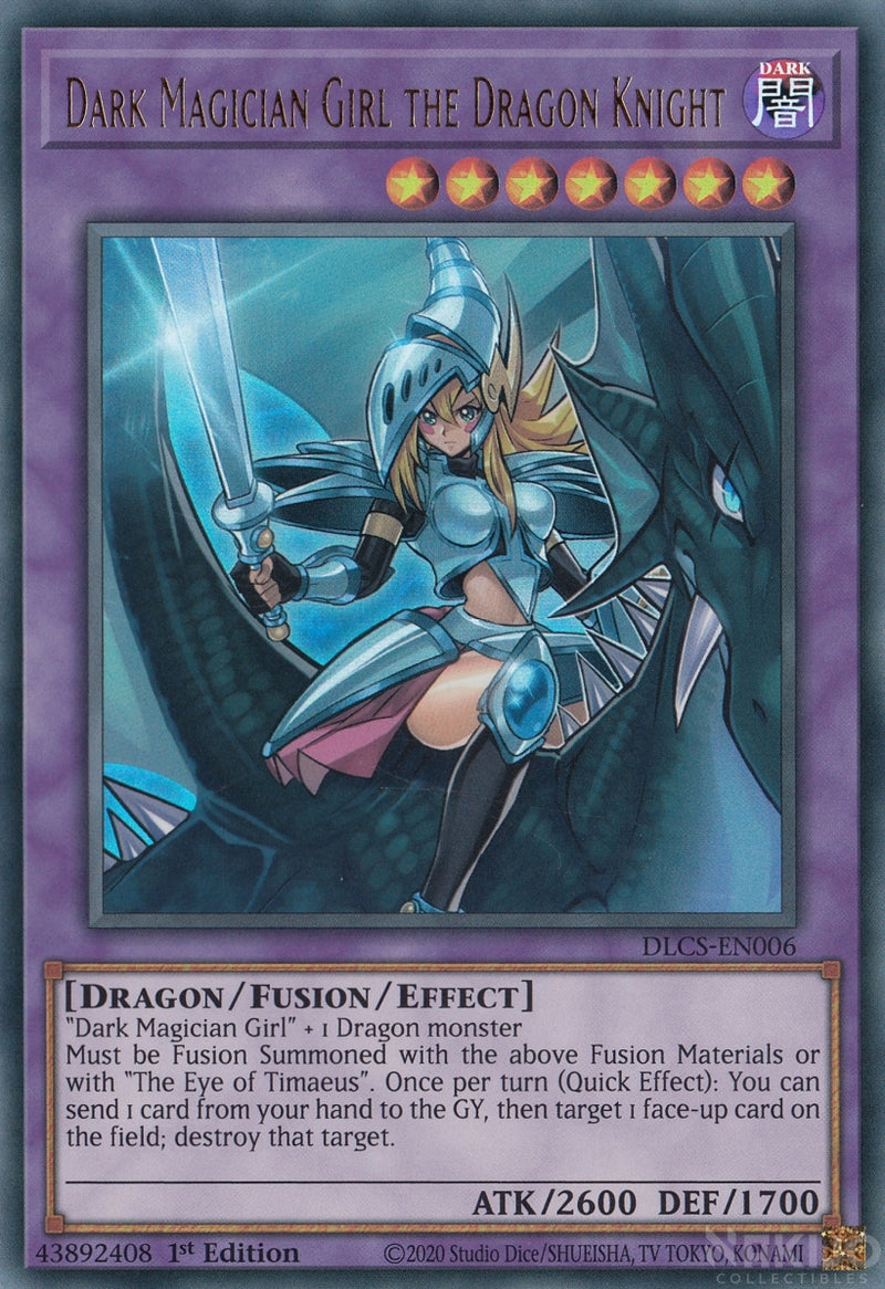 Dark Magician Girl the Dragon Knight - DLCS-EN006 - Ultra Rare - 1st Edition