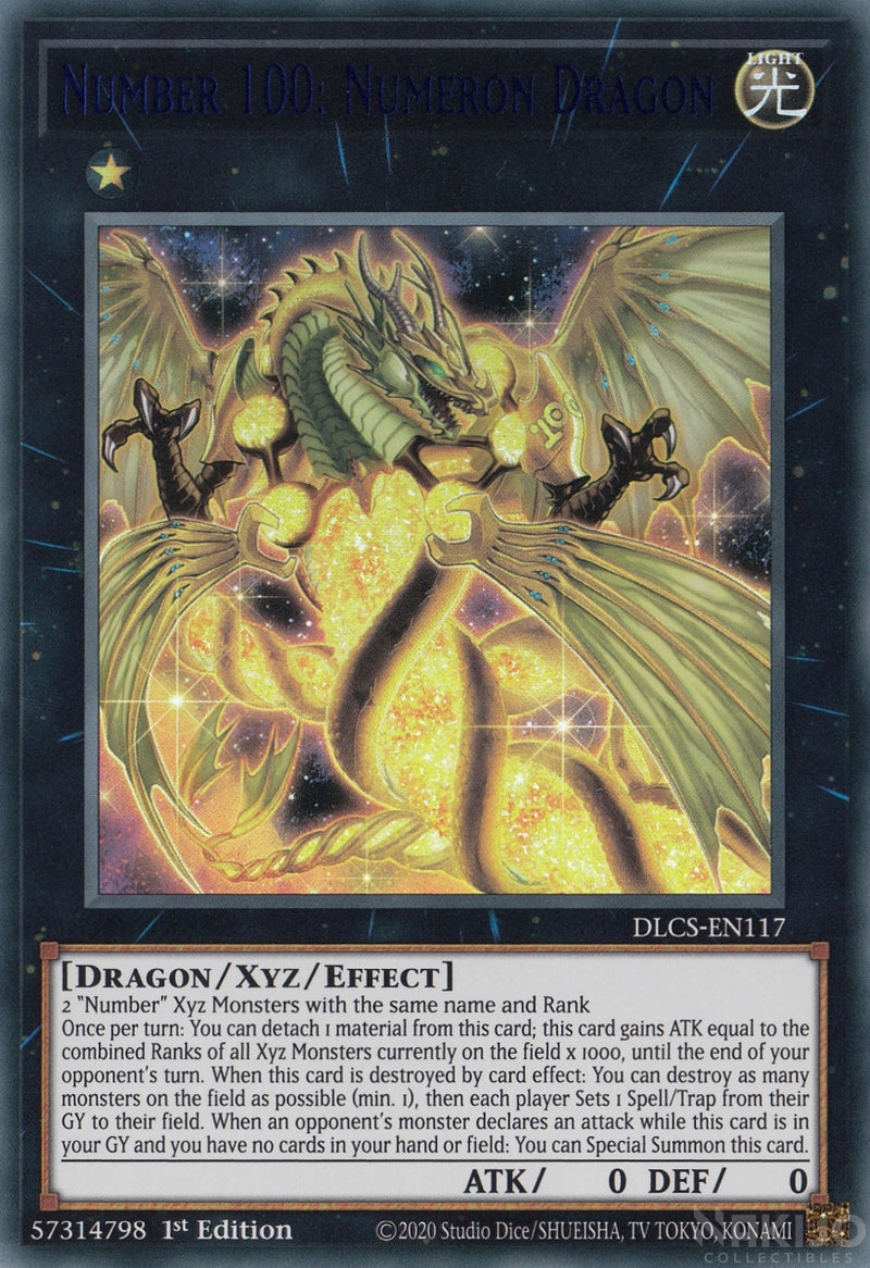 Number 100: Numeron Dragon - DLCS-EN117 - Blue Ultra Rare - 1st Edition