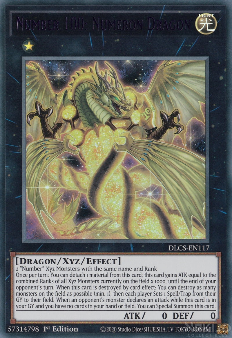 Number 100: Numeron Dragon - DLCS-EN117 - Purple Ultra Rare - 1st Edition