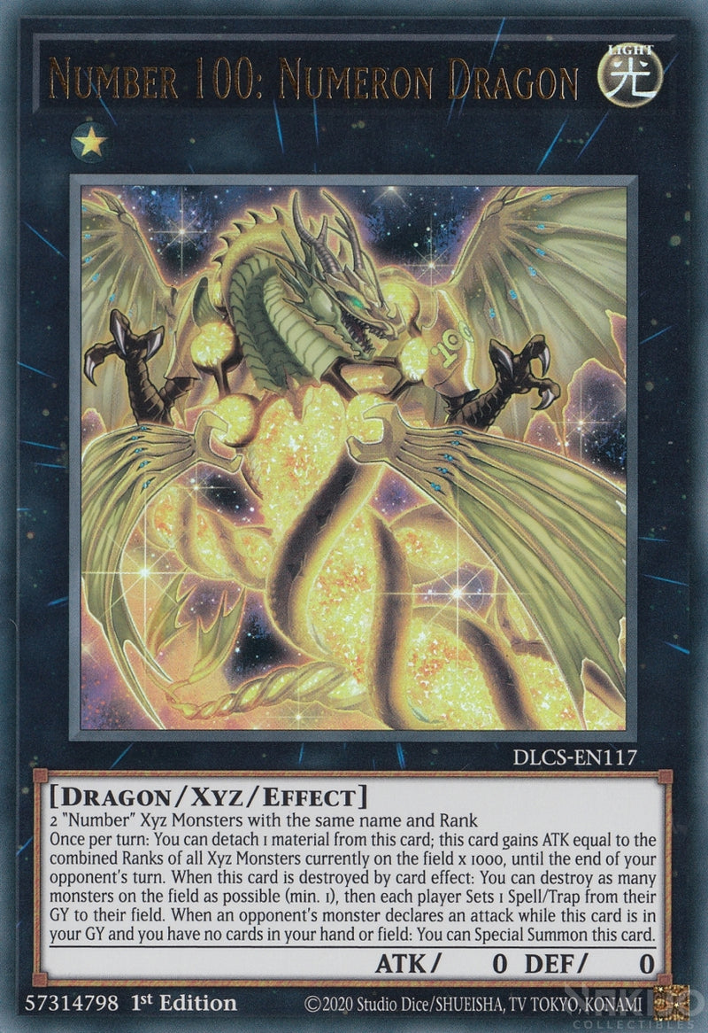 Number 100: Numeron Dragon - DLCS-EN117 - Ultra Rare - 1st Edition