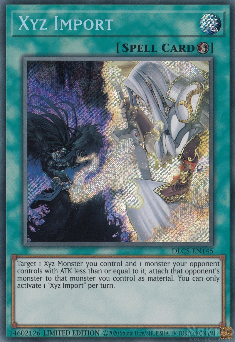 Xyz Import - DLCS-EN145 - Secret Rare - 1st Edition