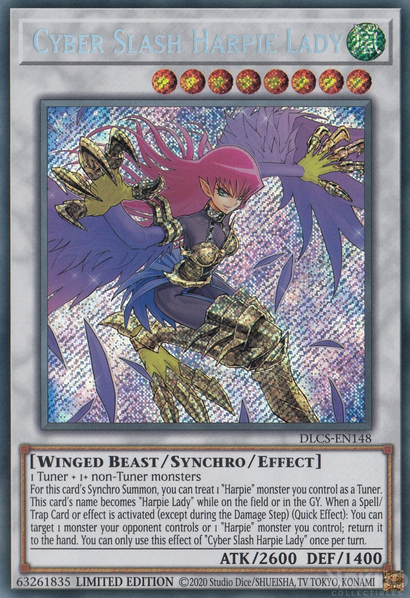 Cyber Slash Harpie Lady - DLCS-EN148 - Secret Rare - 1st Edition