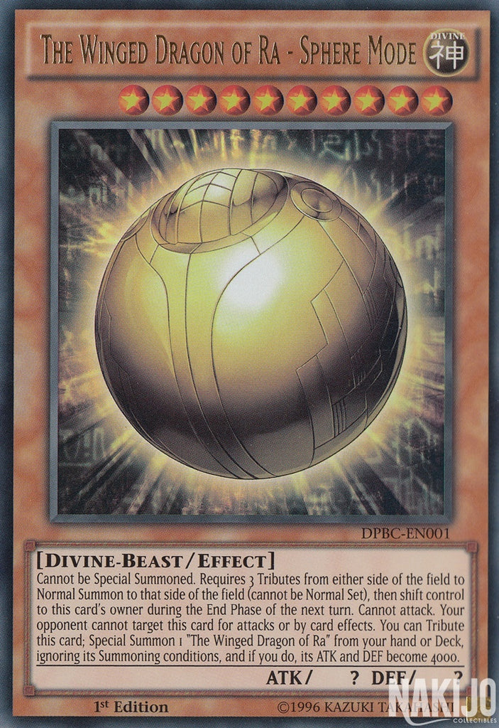 The Winged Dragon Of Ra Sphere Mode - DPBC-EN001 - Ultra Rare - 1st Edition