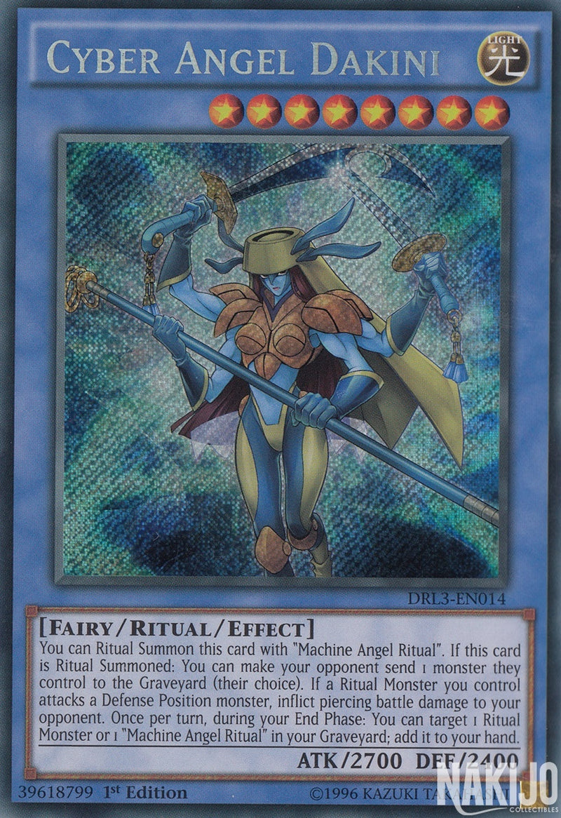Cyber Angel Dakini - DRL3-EN014 - Secret Rare - 1st Edition