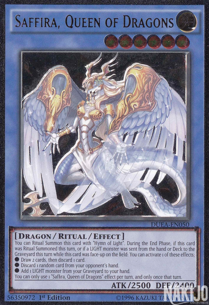 Saffira, Queen of Dragons - DUEA-EN050 - Ultra Rare - 1st Edition