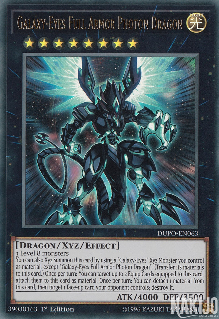 Galaxy-Eyes Full Armor Photon Dragon - DUPO-EN063 - Ultra Rare - 1st Edition