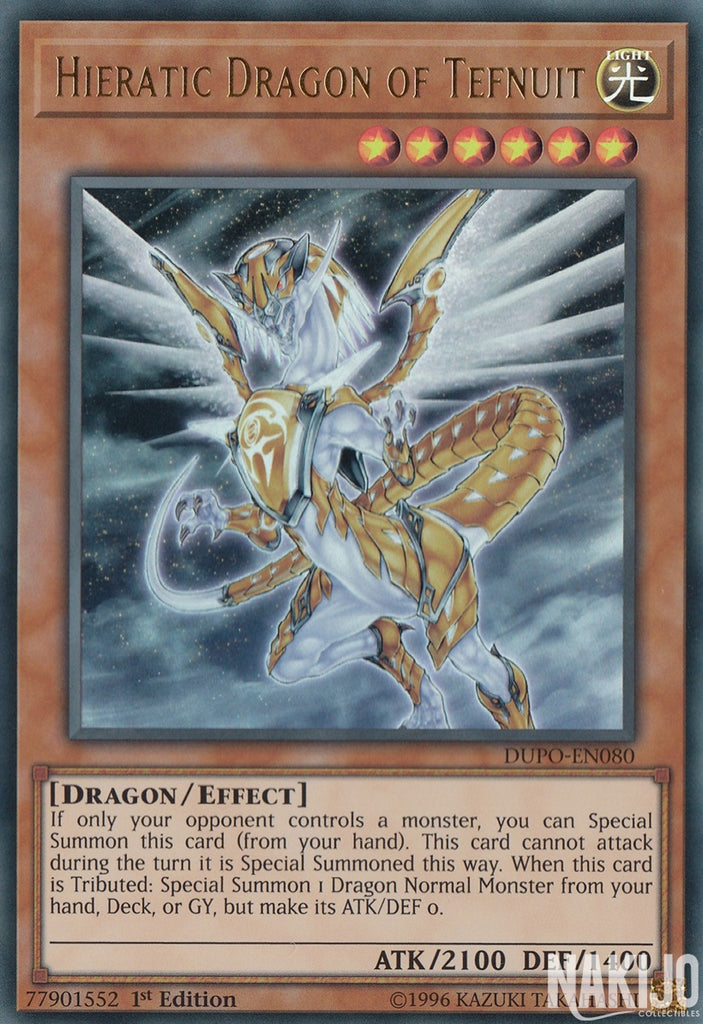 Hieratic Dragon of Tefnuit - DUPO-EN080 - Ultra Rare - 1st Edition