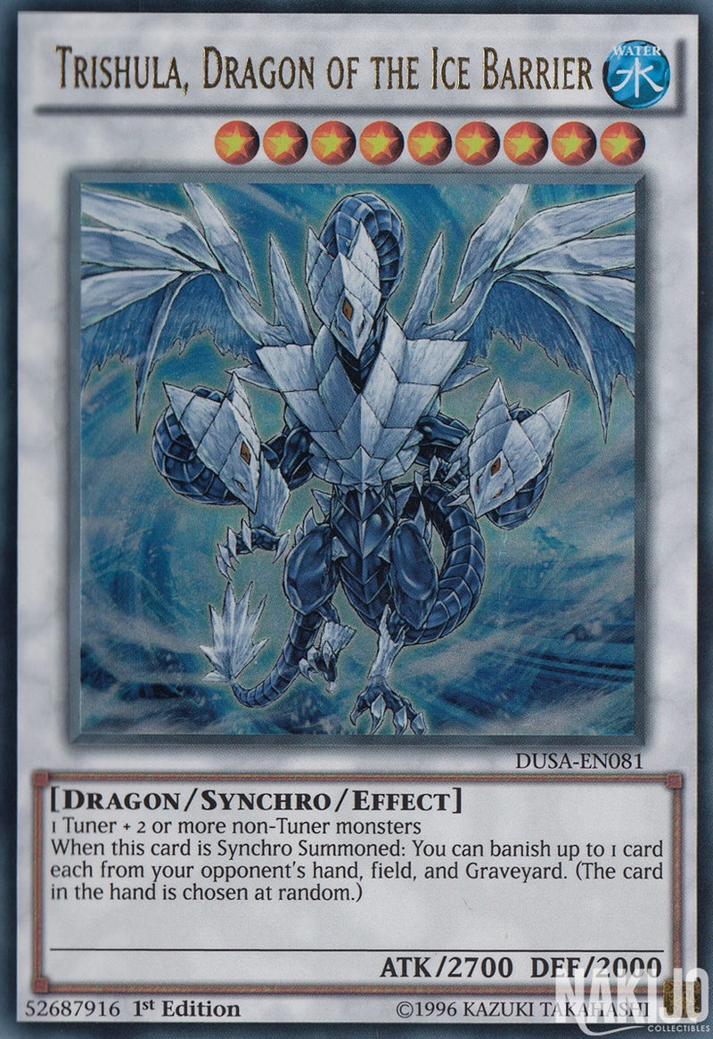 Trishula, Dragon of the Ice Barrier - DUSA-EN081 - Ultra Rare - 1st Edition