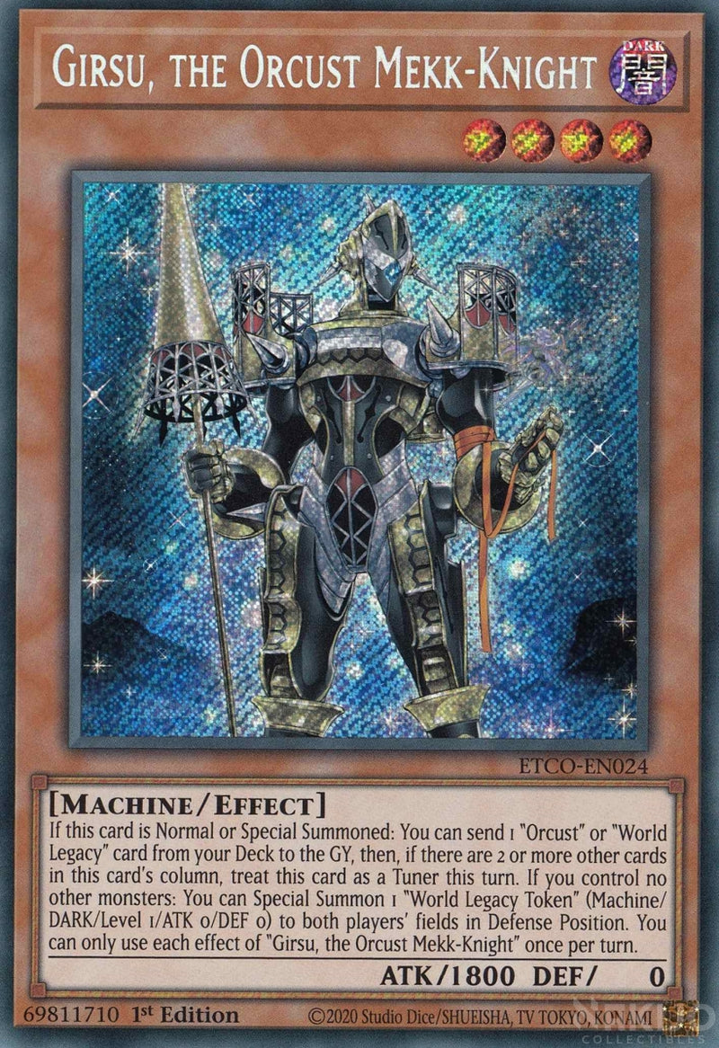 Girsu, the Orcust Mekk-Knight - ETCO-EN024 - Secret Rare - 1st Edition