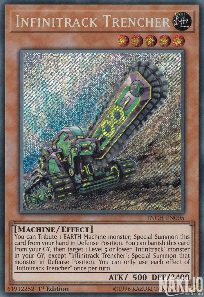 Infinitrack Trencher - INCH-EN005 - Secret Rare - 1st Edition