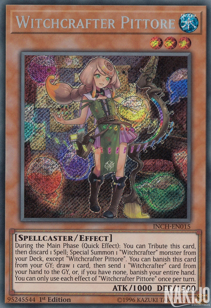 Witchcrafter Pittore - INCH-EN015 - Secret Rare - 1st Edition