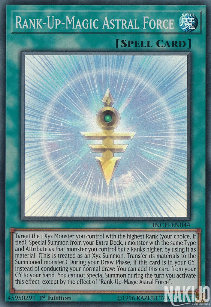 Rank-Up-Magic Astral Force - INCH-EN044 - Super Rare - 1st Edition