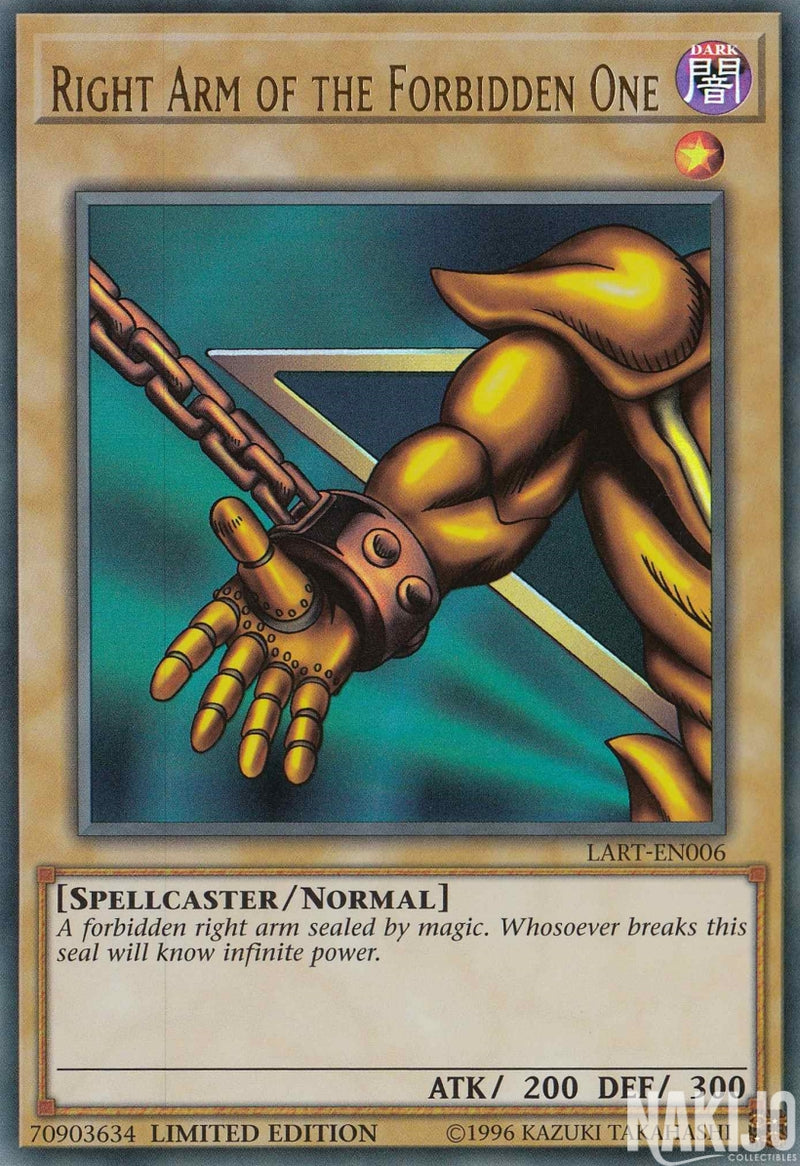 Right Arm of the Forbidden One - LART-EN006 - Ultra Rare - Limited Edition