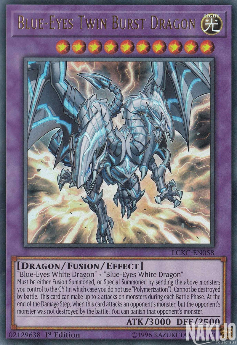 Blue-Eyes Twin Burst Dragon - LCKC-EN058 - Ultra Rare - 1st Edition