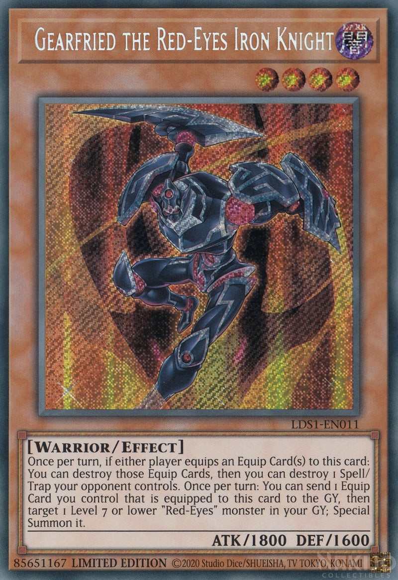 Gearfried the Red-Eyes Iron Knight - LDS1-EN011 - Secret Rare - Limited Edition