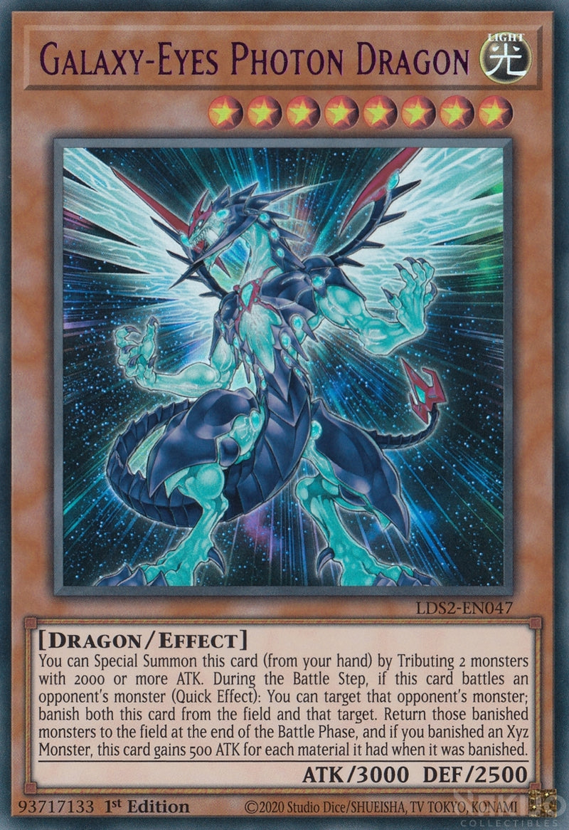Galaxy-Eyes Photon Dragon - LDS2-EN047 - Purple Ultra Rare - 1st Edition