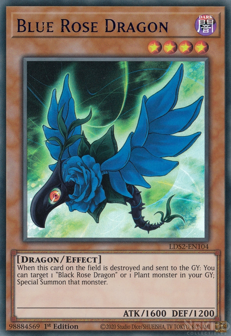 Blue Rose Dragon - LDS2-EN0104 - Blue Ultra Rare - 1st Edition
