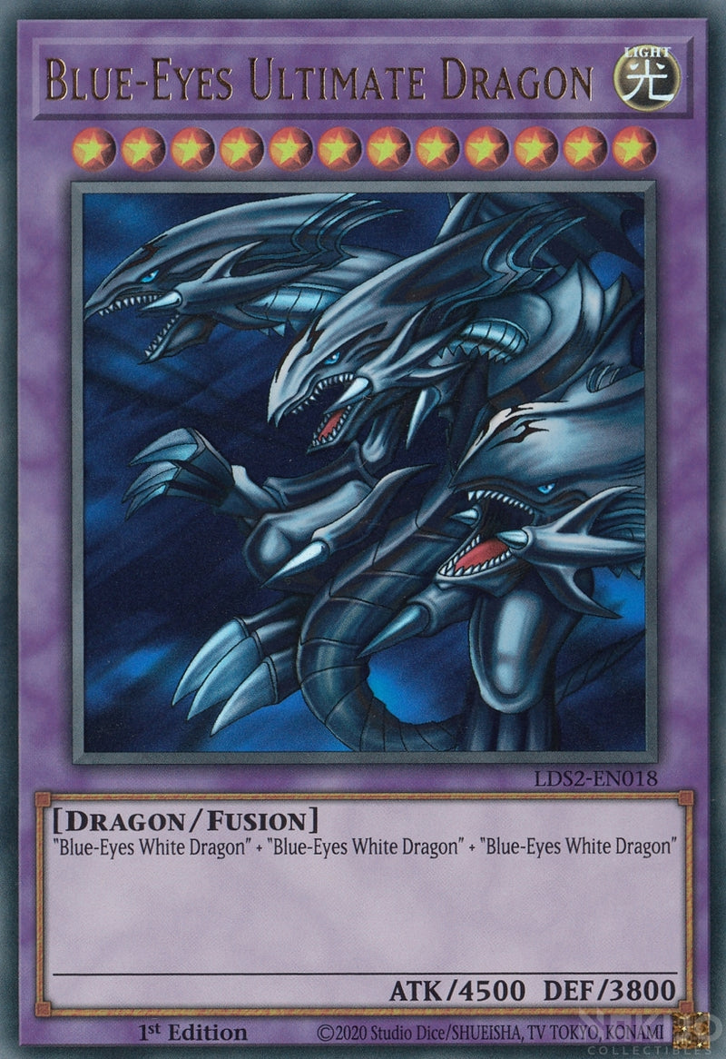 Blue-Eyes Ultimate Dragon - LDS2-EN018 - Ultra Rare - 1st Edition