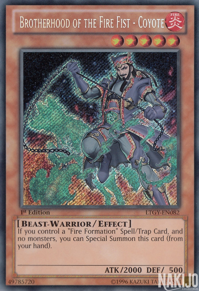 Brotherhood of the Fire Fist - Coyote - LTGY-EN082 - Secret Rare - 1st Edition