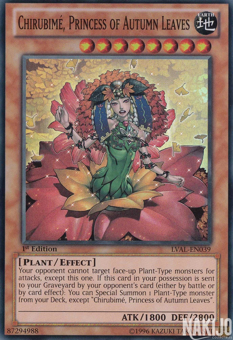 Chirubime, Princess of Autumn Leaves - LVAL-EN039 - Super Rare - 1st Edition