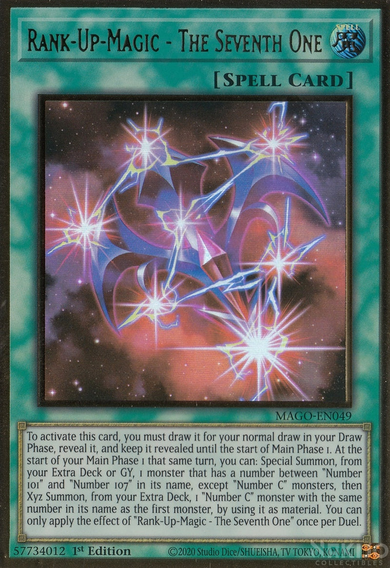Rank-Up-Magic - The Seventh One - MAGO-EN049 - Premium Gold Rare - 1st Edition