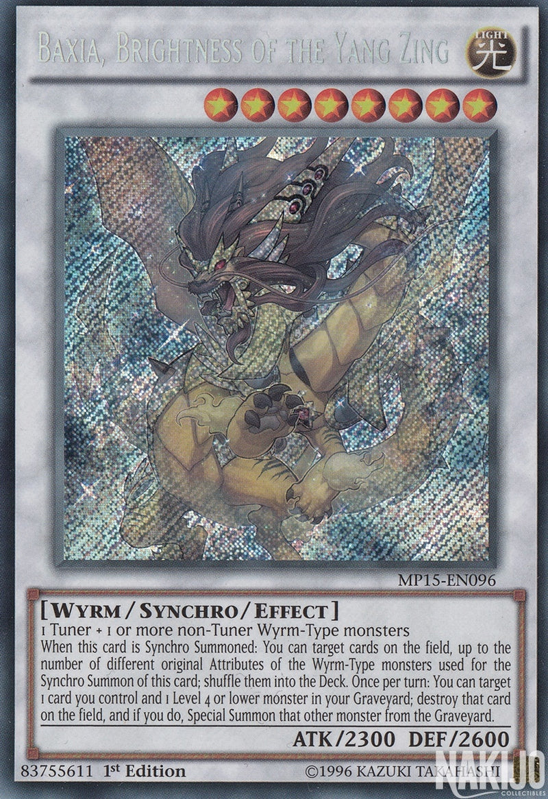 Baxia, Brightness of the Yang Zing - MP15-EN096 - Secret Rare - 1st Edition