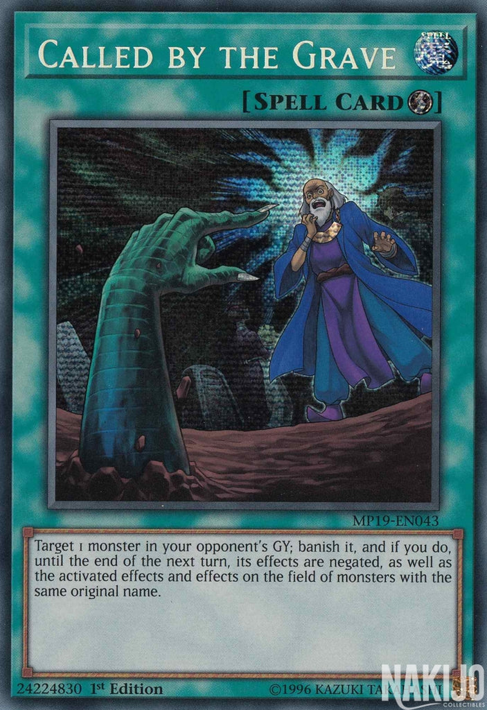 Called by the Grave - MP19-EN043 - Prismatic Secret Rare - 1st Edition