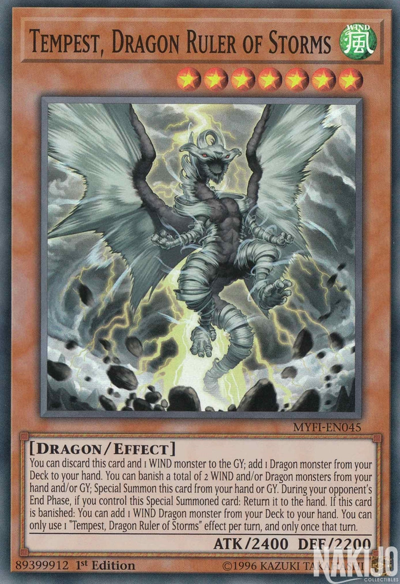 Tempest, Dragon Ruler of Storms - MYFI-EN045 - Super Rare - 1st Edition