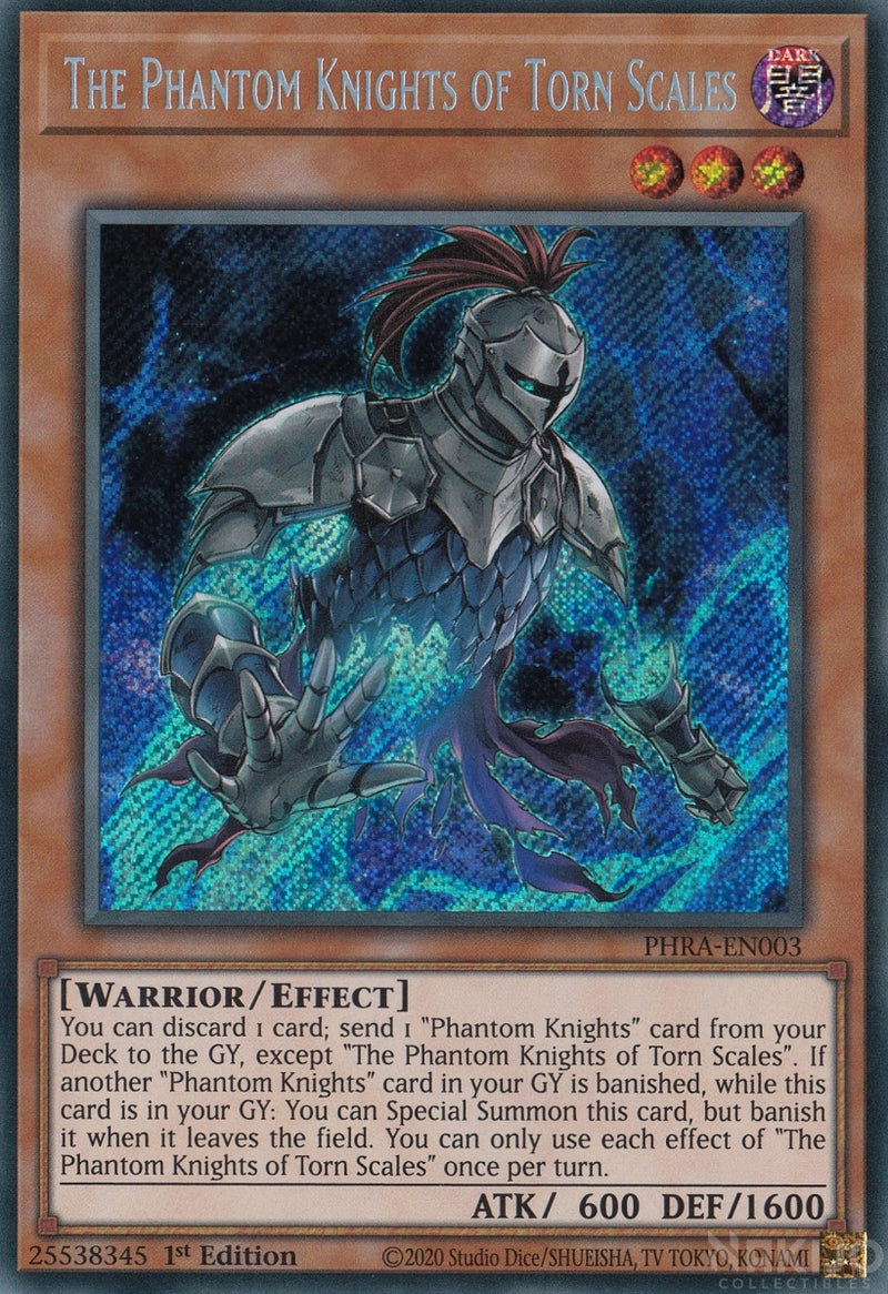 The Phantom Knights of Torn Scales - PHRA-EN003 - Secret Rare - 1st Edition