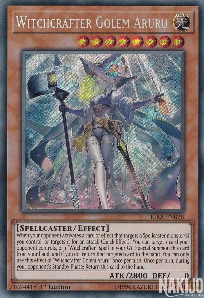 Witchcrafter Golem Aruru - RIRA-EN028 - Secret Rare - 1st Edition