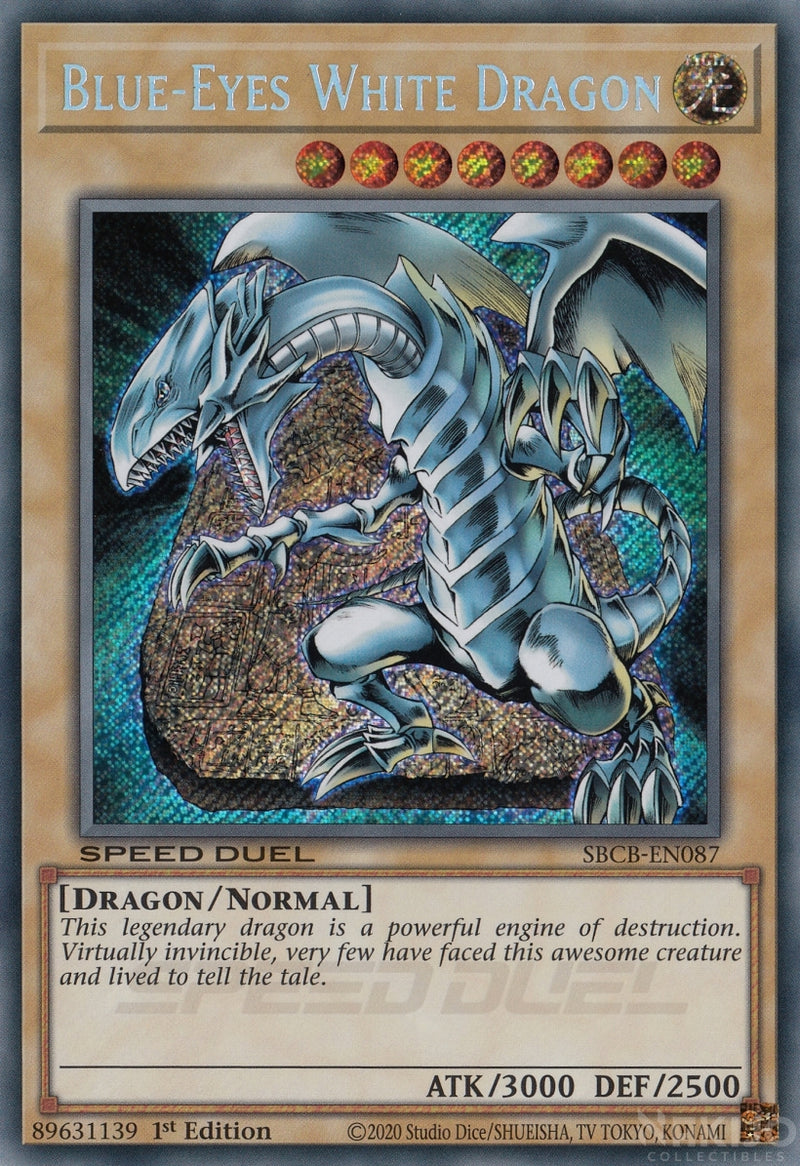 Blue-Eyes White Dragon - SBCB-EN087 - Secret Rare - 1st Edition