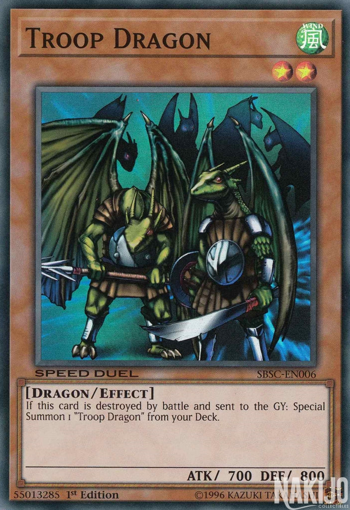 Troop Dragon - SBSC-EN006 - Super Rare - 1st Edition
