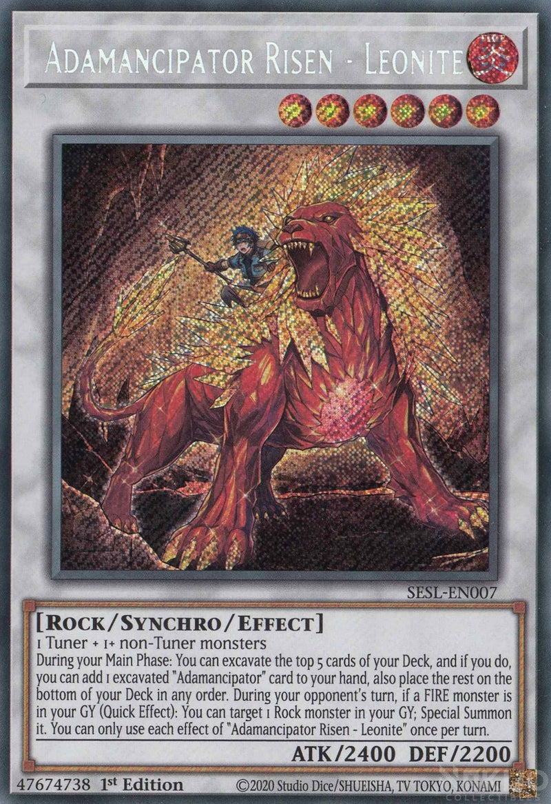 Adamancipator Risen - Leonite - SESL-EN007 - Secret Rare - 1st Edition