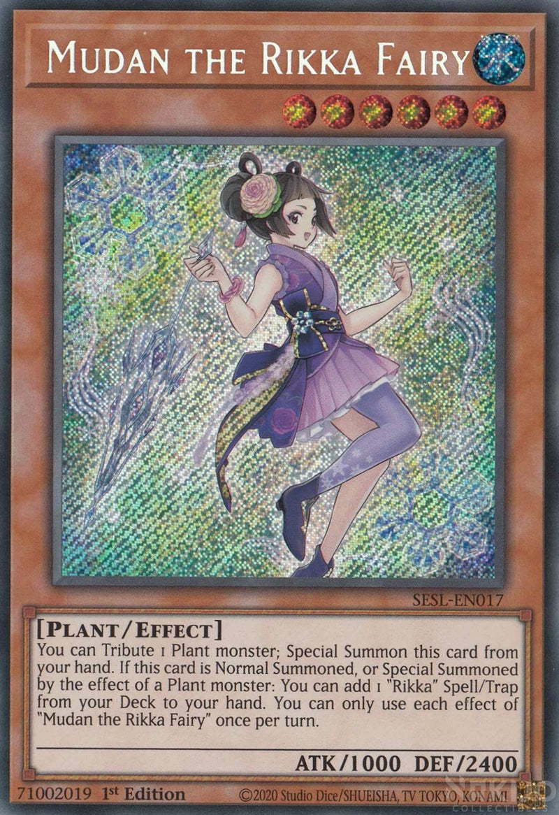 Mudan the Rikka Fairy - SESL-EN017 - Secret Rare - 1st Edition