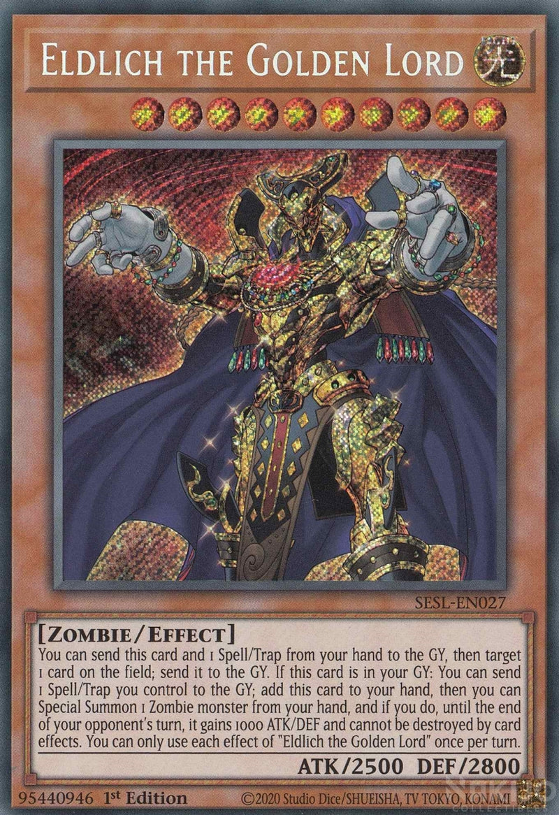 Eldlich the Golden Lord - SESL-EN027 - Secret Rare - 1st Edition