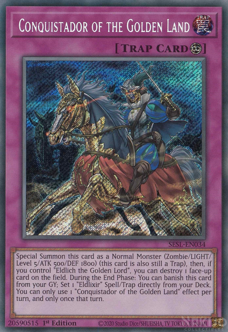 Conquistador of the Golden Land - SESL-EN034 - Secret Rare - 1st Edition